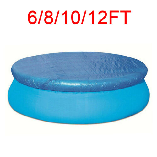 6FT 8FT 10FT 12FT Round Swimming Pool Cover Fit For Intex Bestway Fast Set Pools