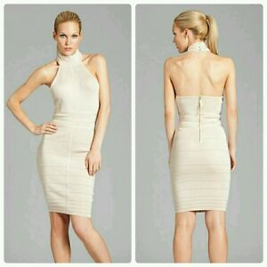 9dd879c5b2f Image is loading GUESS-BY-MARCIANO-HALTER-BANDAGE-DRESS