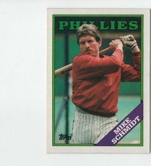 1988 Topps Mike Schmidt Philadelphia Phillies #600
