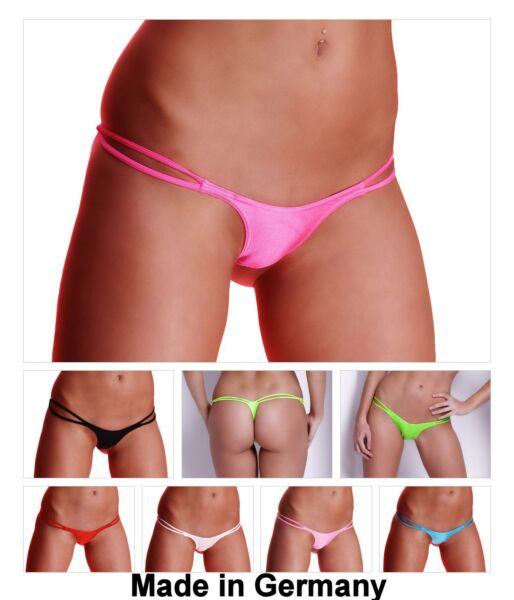SeXy NEON Bikini Mini Slip Stretch String Tanga GoGo Doppelschnur 36 38 40 S M L