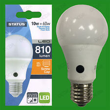 1x 10W = 60W LED GLS Dusk Till Dawn Sensor Security Night Light Bulb ES E27 Lamp