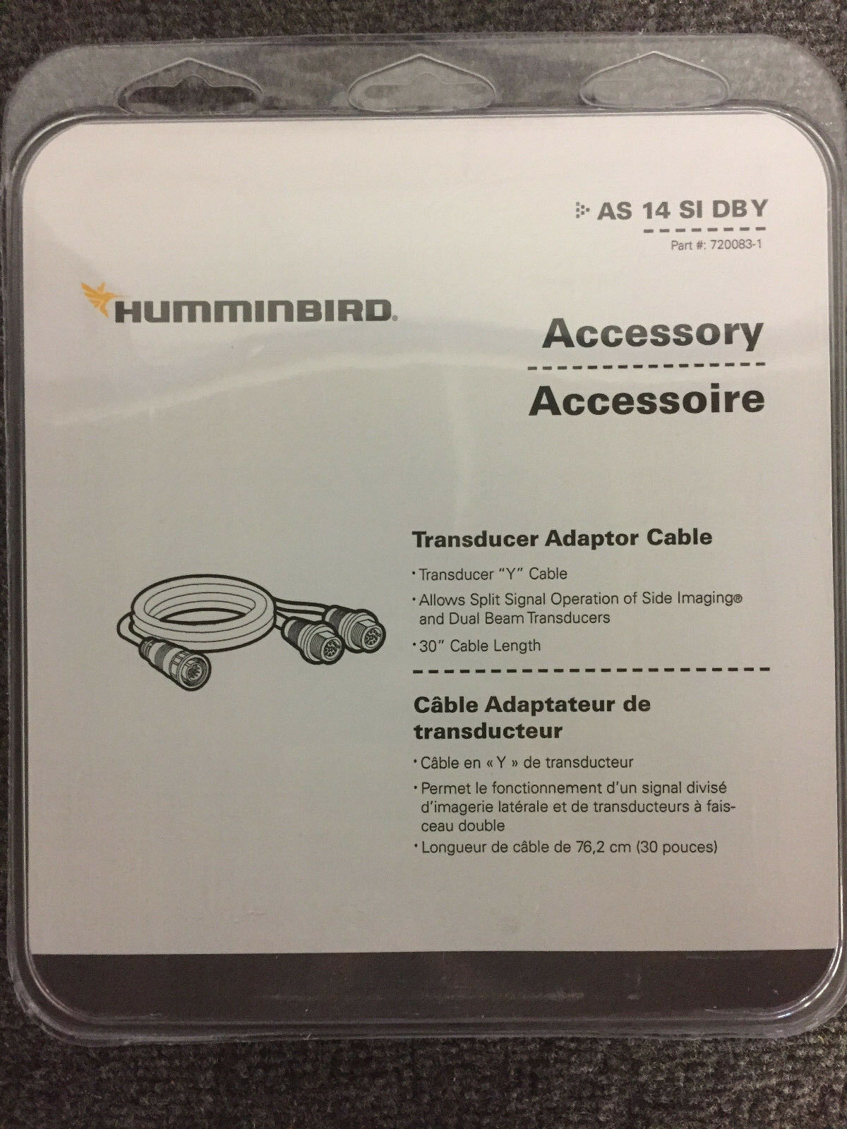 Humminbird AS 14 SI DBY sonar splitter  cable for Onix units p n 720083-1  outlet on sale