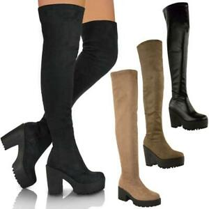 LADIES WOMENS THIGH HIGH OVER THE KNEE