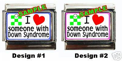 I Love Someone With Down Syndrome Custom Italian Charm