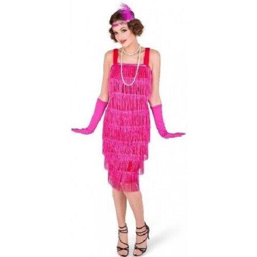 ADULT COSTUME KARNIVAL FLAPPER DRESS PINK XS  #H-002