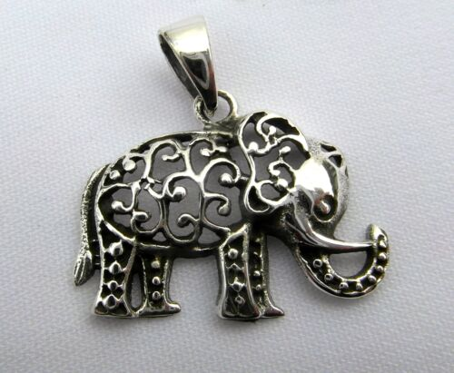 925 Brand  New  !! Scrolled  Elephant   Pendant    ! Sterling Silver