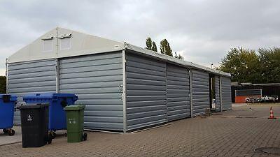 Trendmarkierung Trapezblechhalle Lagerzelt Kleinlager 6x12m / Inkl. 1 Schiebetor / Inkl. Statik