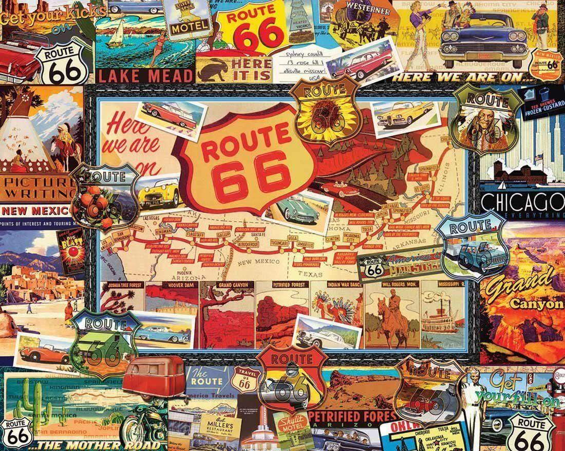 Route 66 1000 Pezzi di Puzzle 760mm 760mm 760mm x 610mm ( Wmp ) d433c0
