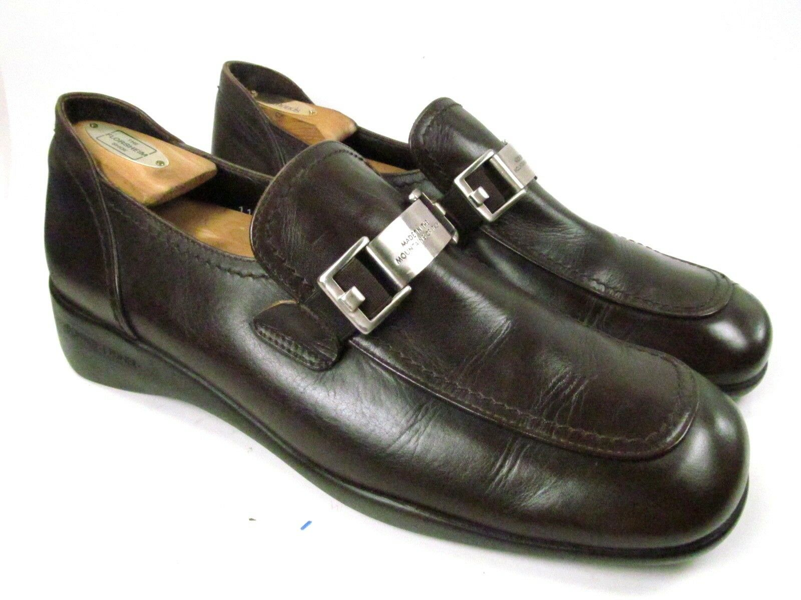 Donald J Pliner Italy Casual Dress Brown Buckle Loafers Mens Size 11 M