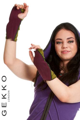 fingerless gloves ARM WARMERS GEKKO wrist warmers VELVET GLOVES ONE SIZE