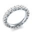 Round-Cut-blanc-saphir-Femmes-Argent-925-Bijoux-elegante-bague-de-mariage-Taille-6-10 miniature 4