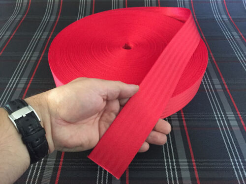 Seat Belt Red Sold by the Metre Tuning Polyester Webbing Belt Strap Seat Belt
