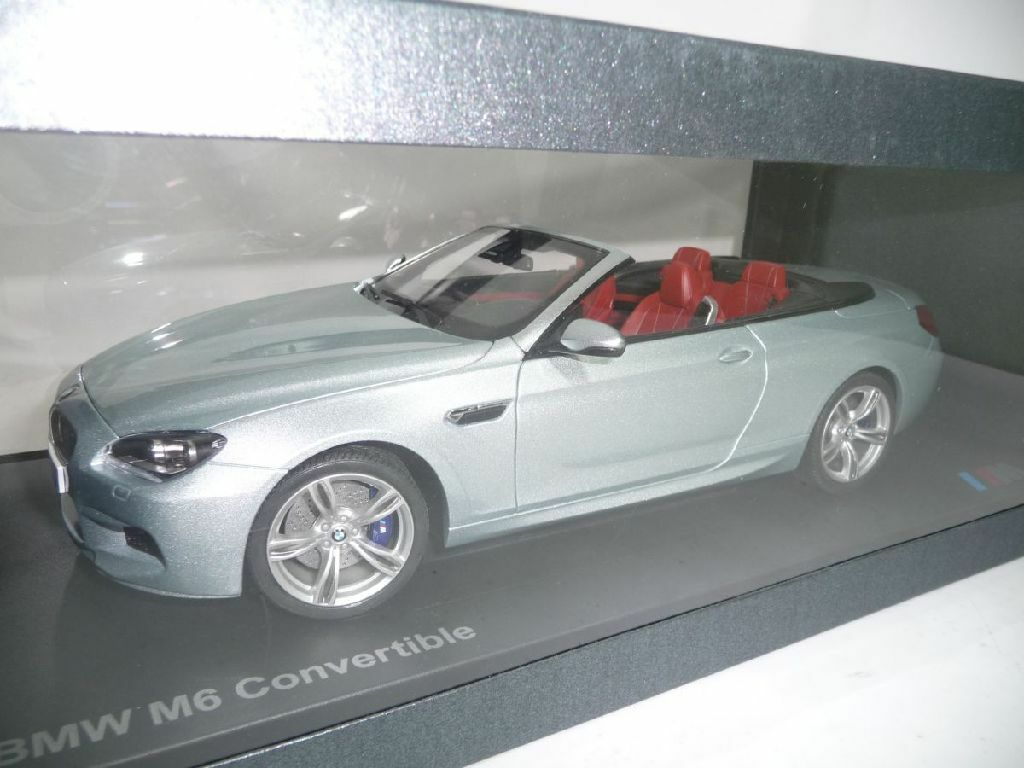 BMW 6er m6 f13 Cabriolet Silverstone II 1:18 PARAGON DEALER VERY RARE | Belle Couleur