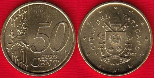 """Vatican 50 euro cents 2017 /""""Franciscus/"""" UNC"""
