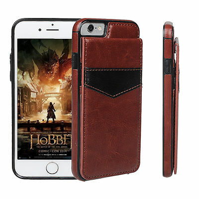 Luxury Leather Card Holder Wallet Stand Back Cover Case For iPhone 6S 7 7 Plus