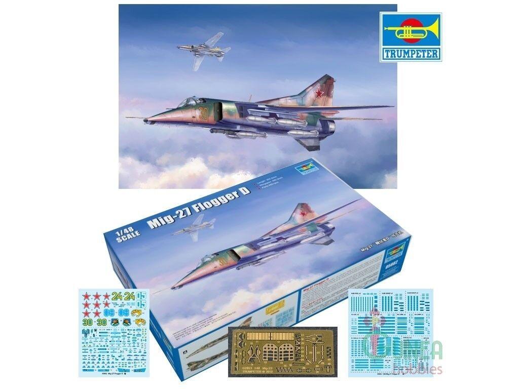 Trumpeter 1 48 MiG-27 Flogger D Aircraft Model Kit