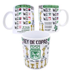 Atletico Nacional Coffee Mug Rey De Copas Colombia Medellin Tea Cup Souvenir