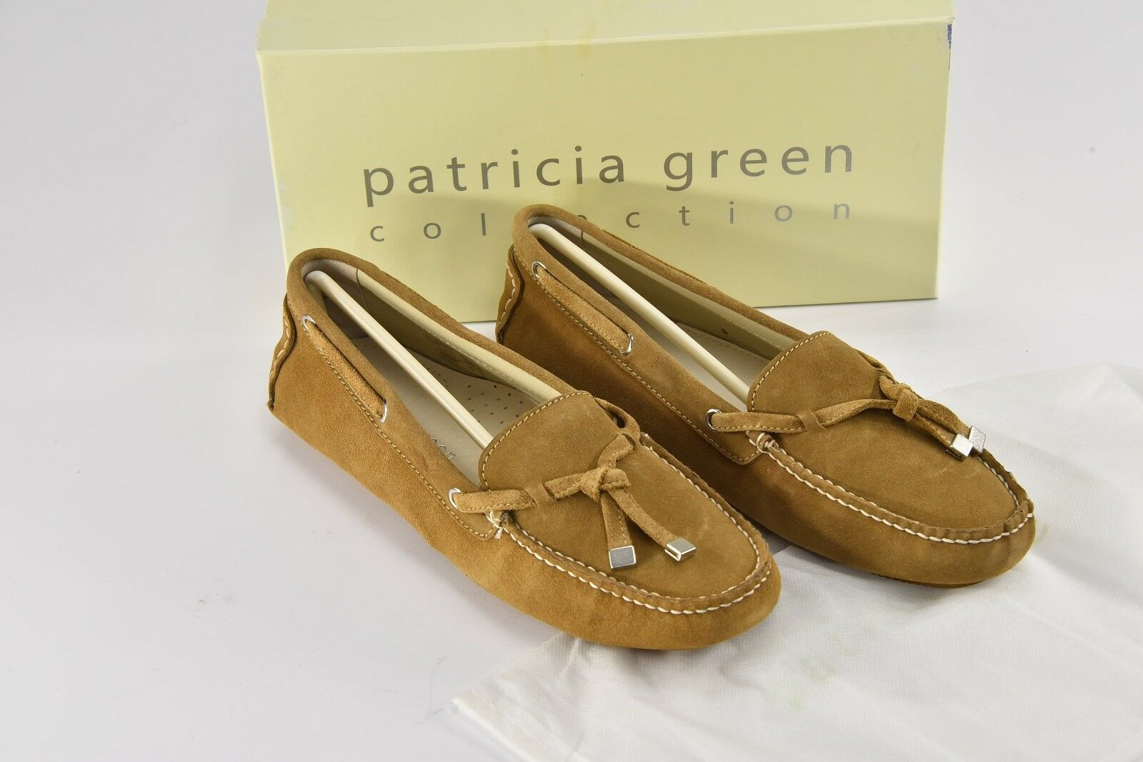 PATRICIA PATRICIA PATRICIA GREEN Lizzie Camel Suede Moccasins Loafers Flats Slippers 11 M66 65fa4c