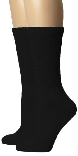 Diabetic Diabetes Edema Neuropathy Health Crew Socks Men 9-11 10-13 13-15 12 pk