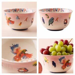 Details about NIB Anthropologie Raven Roxanne Songbird Bowl Set Of 4 Flock  Of Birds Stoneware