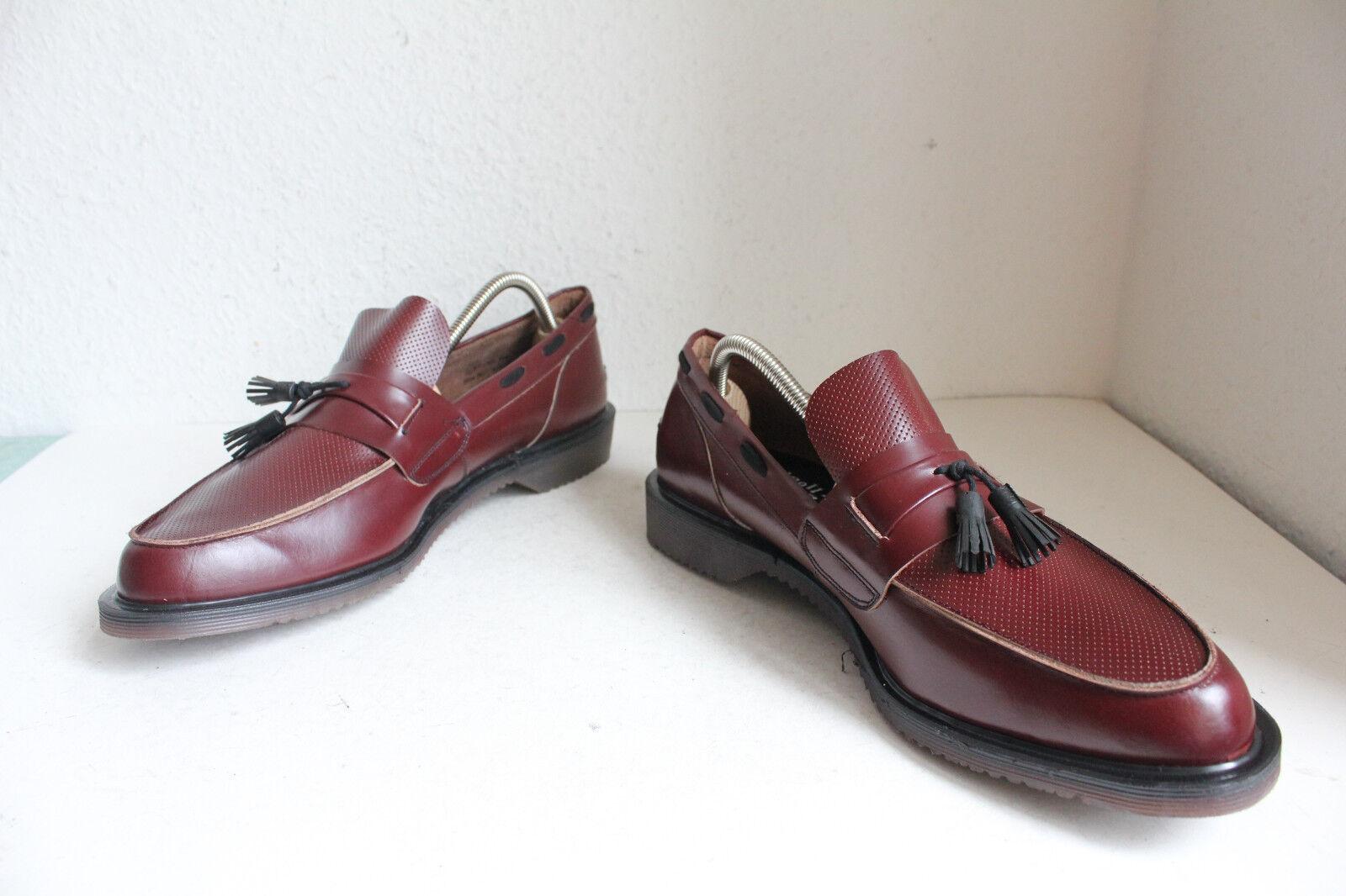 Vintage Dr.Martens Mokassins Schuhe Weinrot Eu:46,5 made England in England made -wie neu 16d350