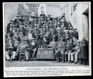 1903 -- UN CLUB ORIGINAL LES CENT KILOS DE PARIS 3N136 - France - 1903 -- UN CLUB ORIGINAL LES CENT KILOS DE PARIS 3N136 il ne s'agit pas d'une Carte Postale mais d'un document GARANTI D'EPOQUE présenté sur carton d'encadrement Année de parution : 1903 format : 115 X 135 mm Paiements acceptés : Paypal - chq - France