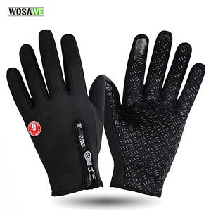 Winter Full Finger Cycling Gloves PadsBike Long Texting Touchscreen Gloves Warm