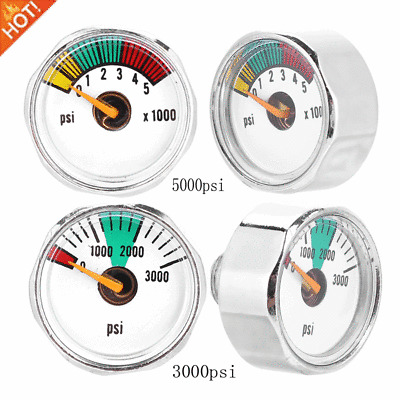 3000/5000PSI Mini Paintball Air CO2 Tank Pressure Gauge 1