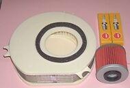 Kit de servicio: - Tapones De Aire Y Filtro De Aceite para caber Yamaha Xvs xvs1100 Estrella de arrastre 1999-09