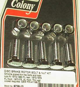 BRAKE-ROTOR-HEX-BOLTS-73-80-Rear-FLH-Shovelhead-73-74-Front-U-S-A-41198-73