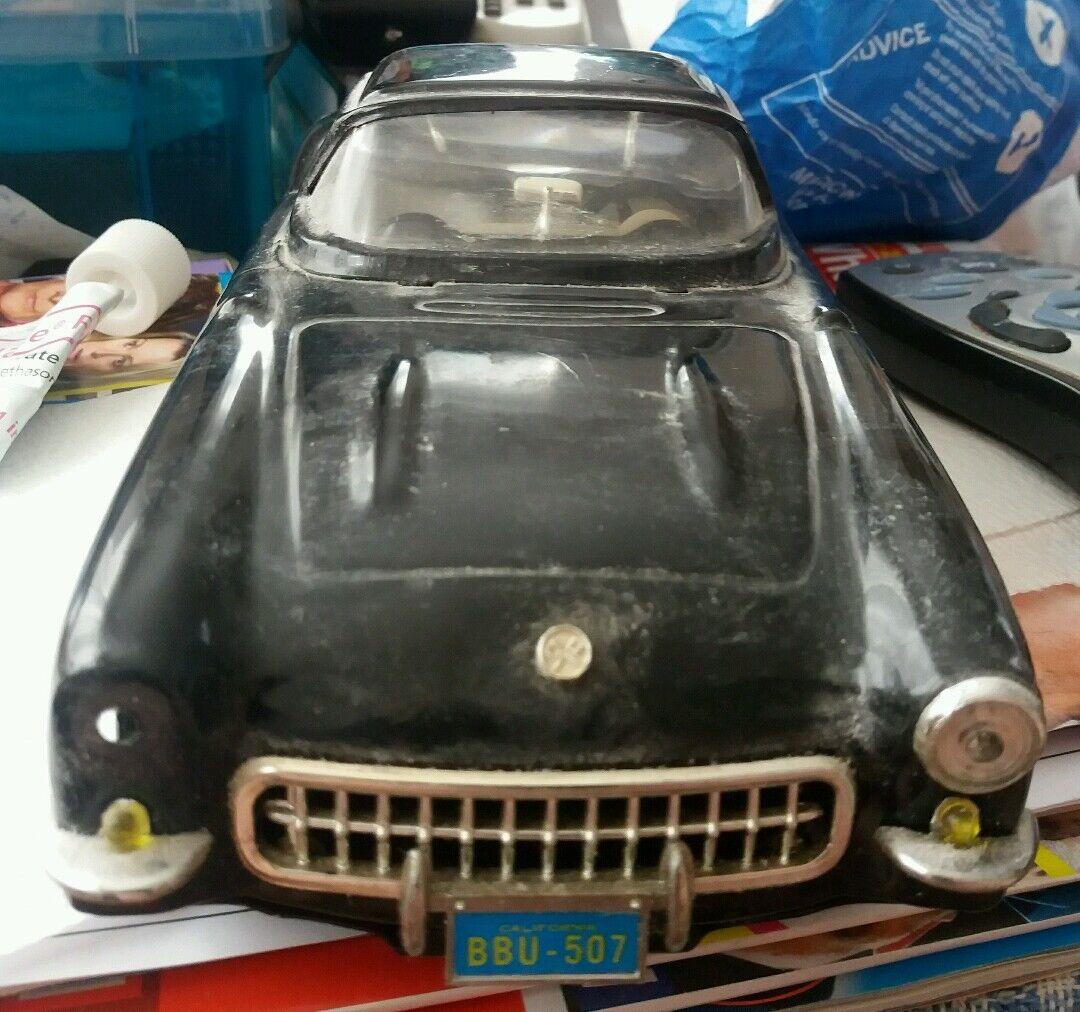 TIN PLATE  FRICTION= 1950's 1960's = TOY CAR = VINTAGE = ANTIQUE=CHEVY CORVETTE