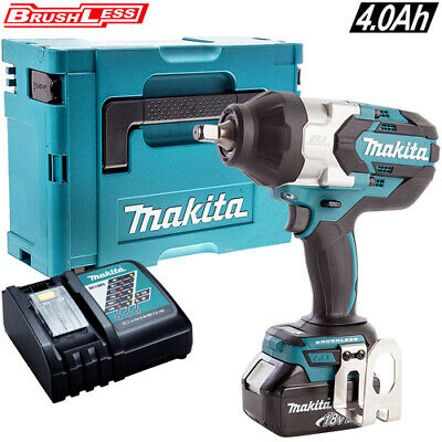 Makita DTW1002Z 18V Brushless Impact Wrench with 1 x 4Ah Battery Charger /& Case