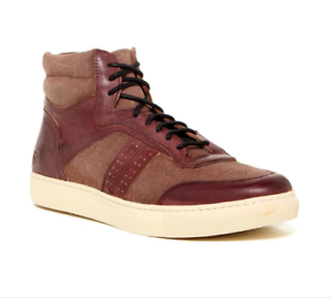 Marc New York by Andrew Marc Mens Size 9 Concord Hightop Sneaker Casual Oxblood