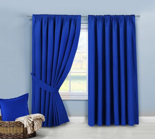 100/% Cotton Panama Twill Curtains Fully Lined Ready Made Thermal Quality