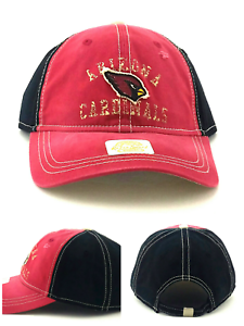 d677a2e0190f3 Arizona Cardinals New Reebok Vintage Dad Clean Up Red Black Slouch ...