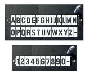 Letter Addressing Stencil.Details About Number And Letter Stencils For Parking Lot Wall And Curb Block Address