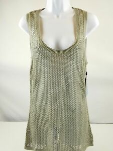 b44a79e9d05ca Derek Lam For Design Nation Khaki Wet Sand Tan Cotton Mesh Knit Tank ...