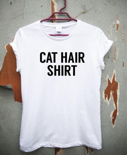 Funny t shirts tops rude slogan tee joke humour shirt  Cat hair