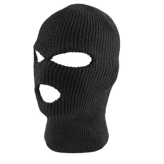 9fa37d5dae0 3 Hole Face Mask Winter Black Beanie Balaclava Ski Snowboard Hat Cap Wear