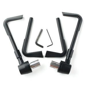 7-8-034-22mm-Handlebar-Motorcycle-CNC-Brake-Clutch-Lever-Protector-Guard-Black