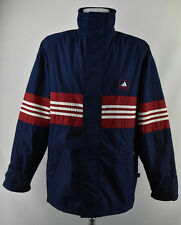 Men`s Adidas Zip Neck Jacket Padded Blue Protected Coat Size S