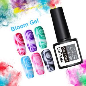 LEMOOC-8ml-Blossom-Gellack-White-Clear-Soak-Off-UV-Gel-Polish-Nagel-Kunst-Gel