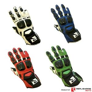 Motorcycle-Gloves-Motorbike-Cowhide-Leather-Racing-Gloves-Knuckle-Protection
