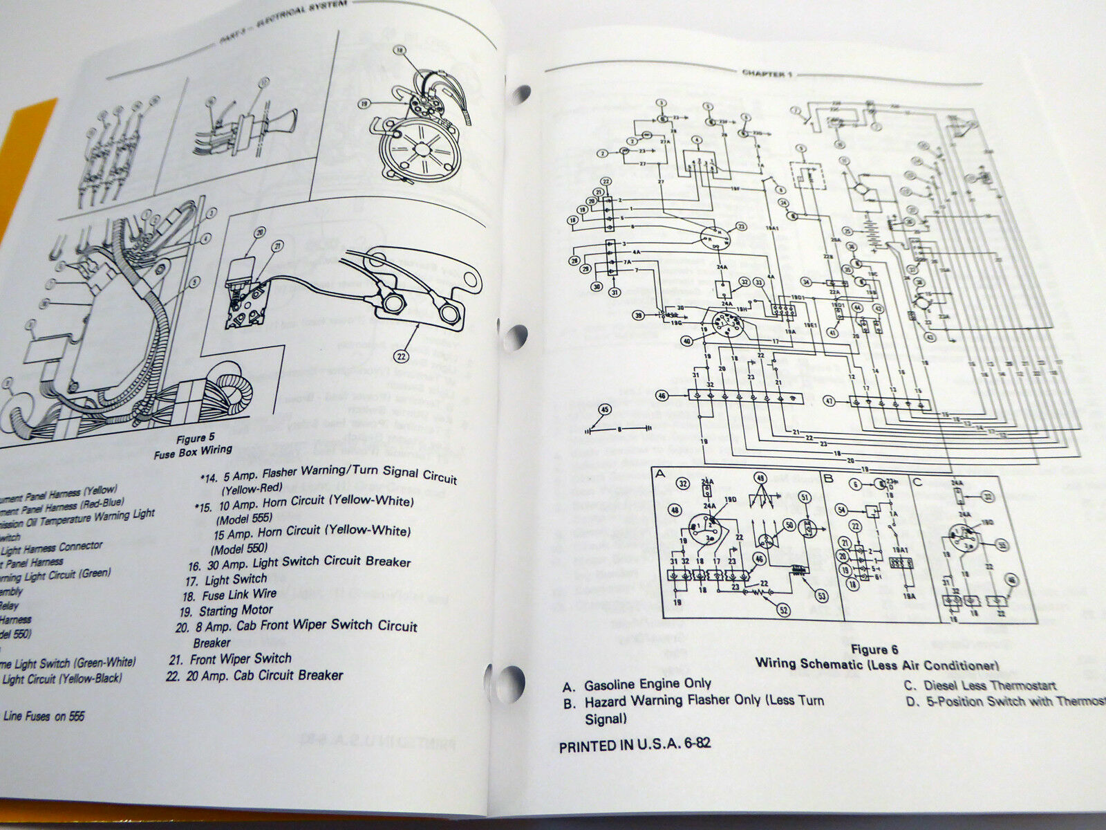 Ford 550 555 Tractor Loader Backhoe Tlb Factory Service Manual Heavy Duty Flasher Wiring Diagram Repair Shop Book Ebay