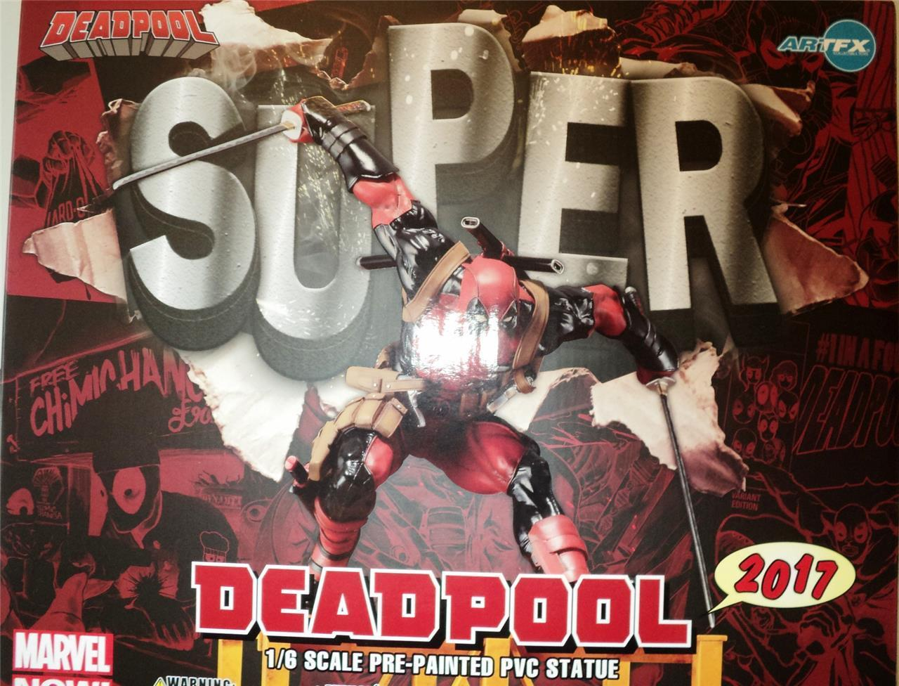 MARVEL NOW Super Deadpool ArtFX+ HUGE 43cm 1/6 scale Statue Kotobukiya MISB
