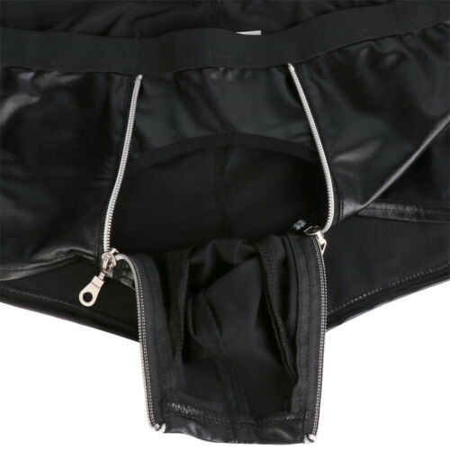 UK Men Leather Briefs Open Butt G-String Jockstrap Fishnet Boxer Briefs Lingerie