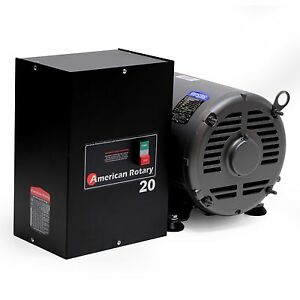 American-Rotary-Phase-Converter-AR20-20-HP-1-to-3-Three-PH-Made-is-USA