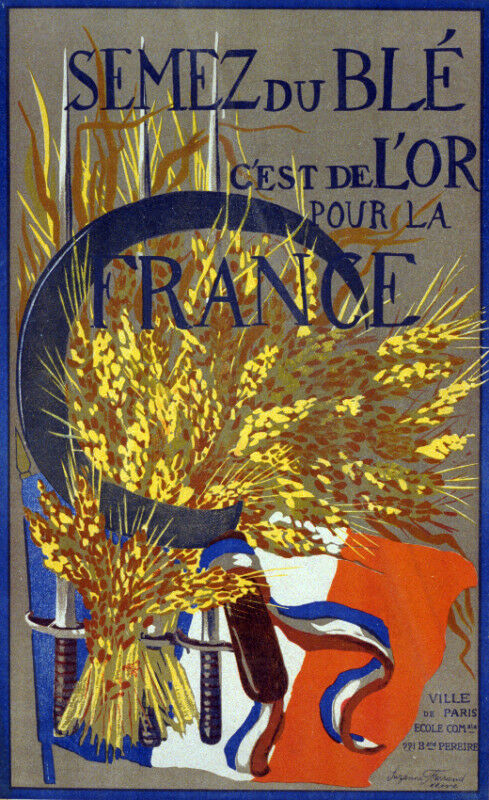 Vintage POSTER.Stylish Graphics. France, Swords&Flag.Art Room Decor.1178