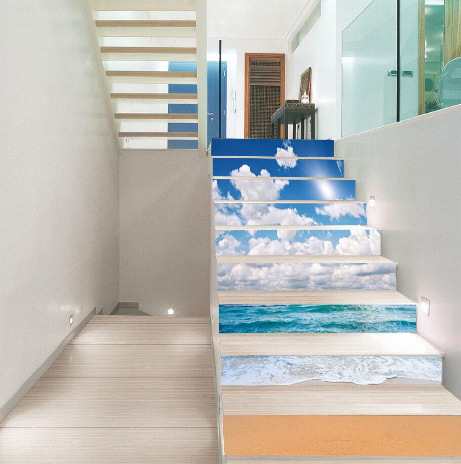 3D Pretty Beach 212 Stair Risers Decoration Photo Mural Vinyl Decal Wallpaper UK
