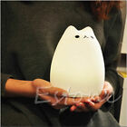 USB Silicone Cat LED Children Animal Night Light Soft Cartoon Baby Nursery Lamp